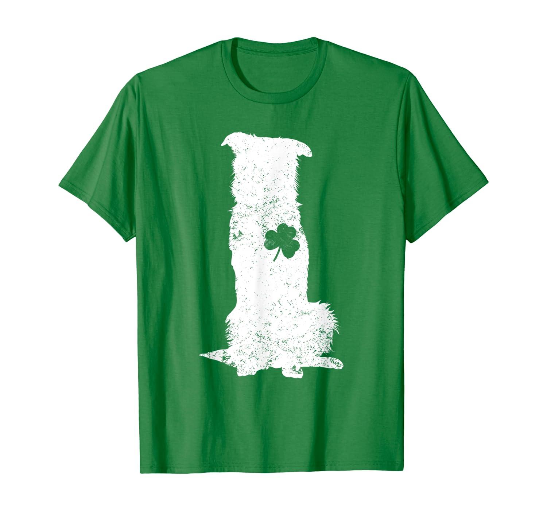 border collie Irish Clover St Patrick Day Dog Gift T-Shirt