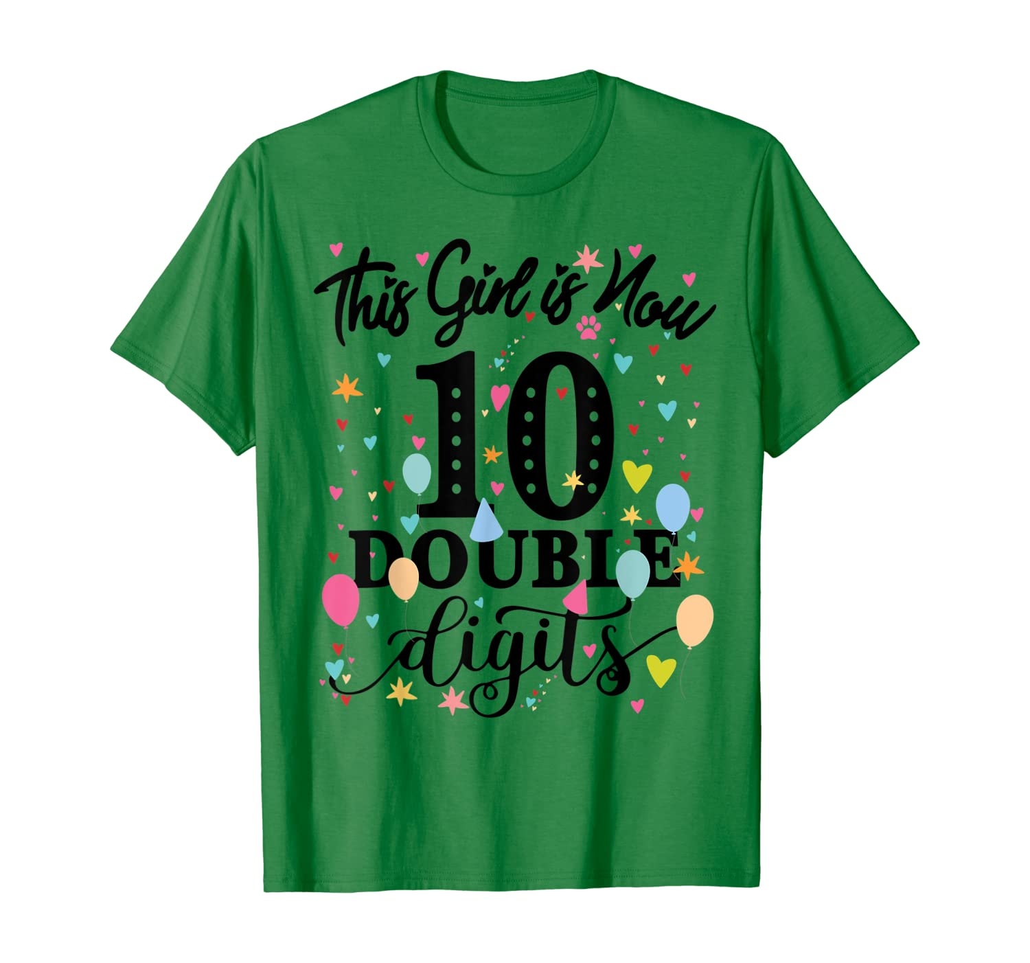 10th Birthday Gifts Shirt This Girl Is Now 10 Double Digits T-Shirt