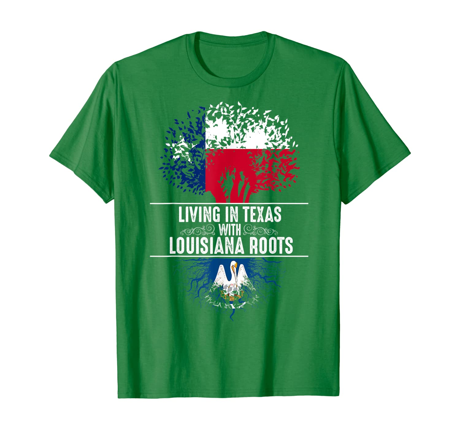 Texas Home Louisiana Roots State Tree Flag Shirt Love Gift