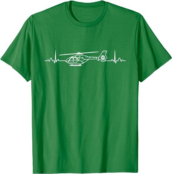 Hubschrauber Herzschlag Shirt Bekleidung