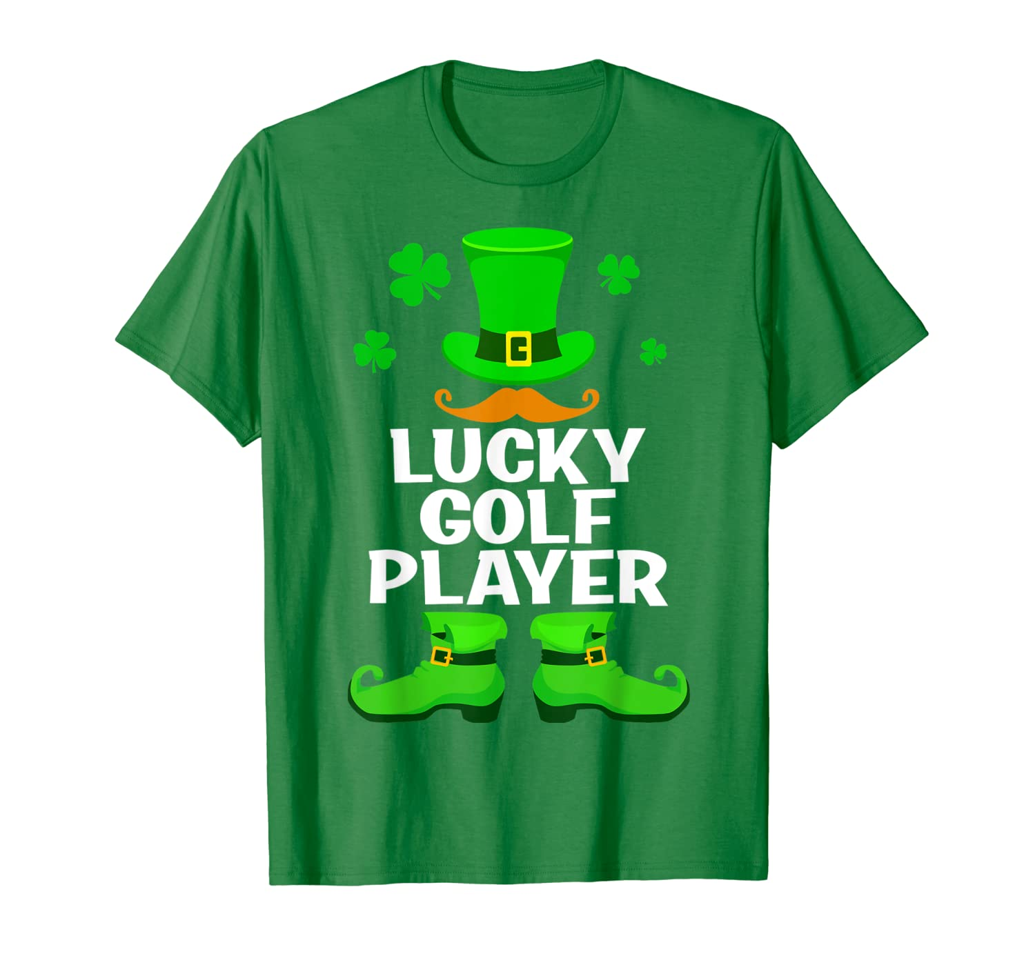Lucky Golf Player Leprechaun St Patrick's Day Gifts T-Shirt-Yolotee