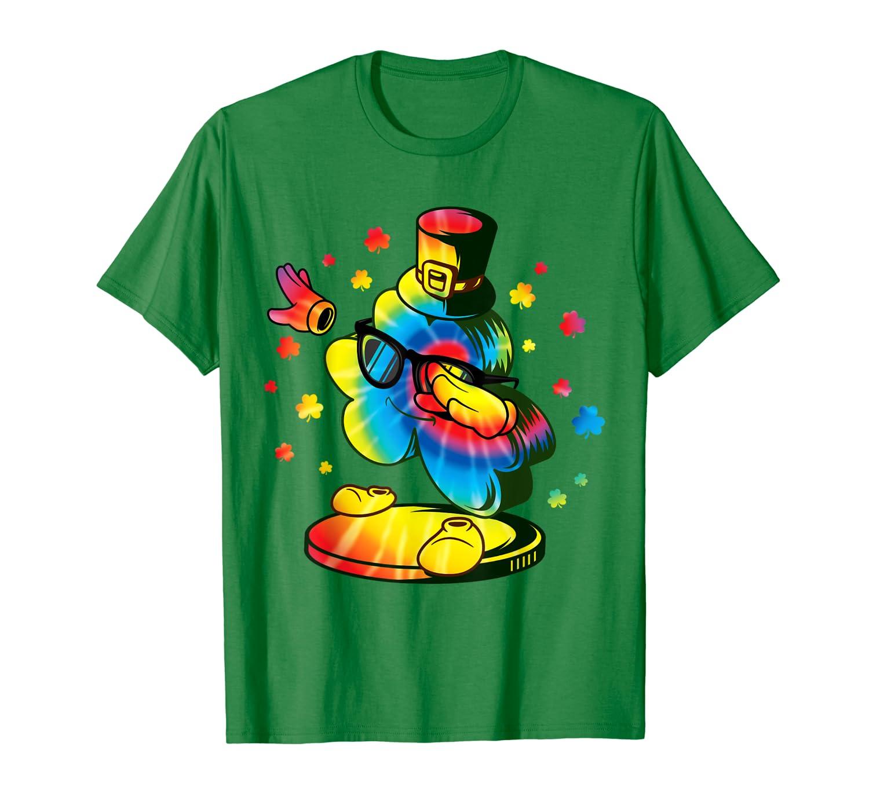 Dabbing Shamrock St Patricks Day Tie Dye Dab Boy Girl T-Shirt-ANZ