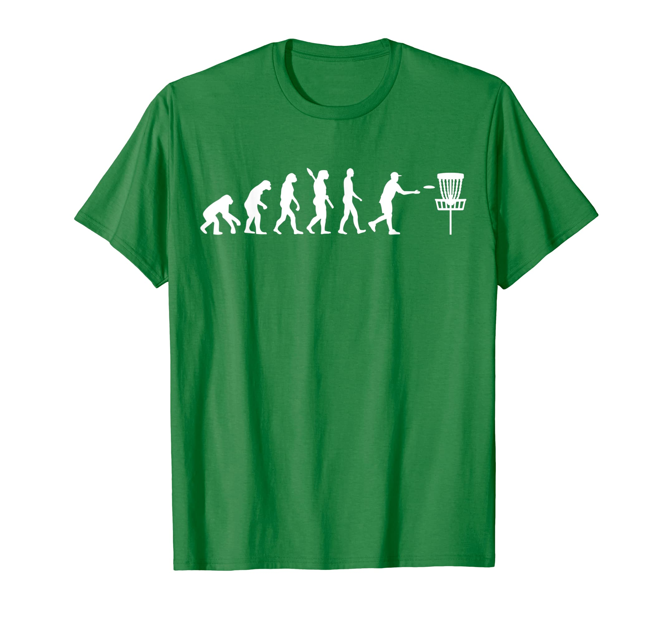 Amazon Com Evolution Disc Golf T Shirt Clothing