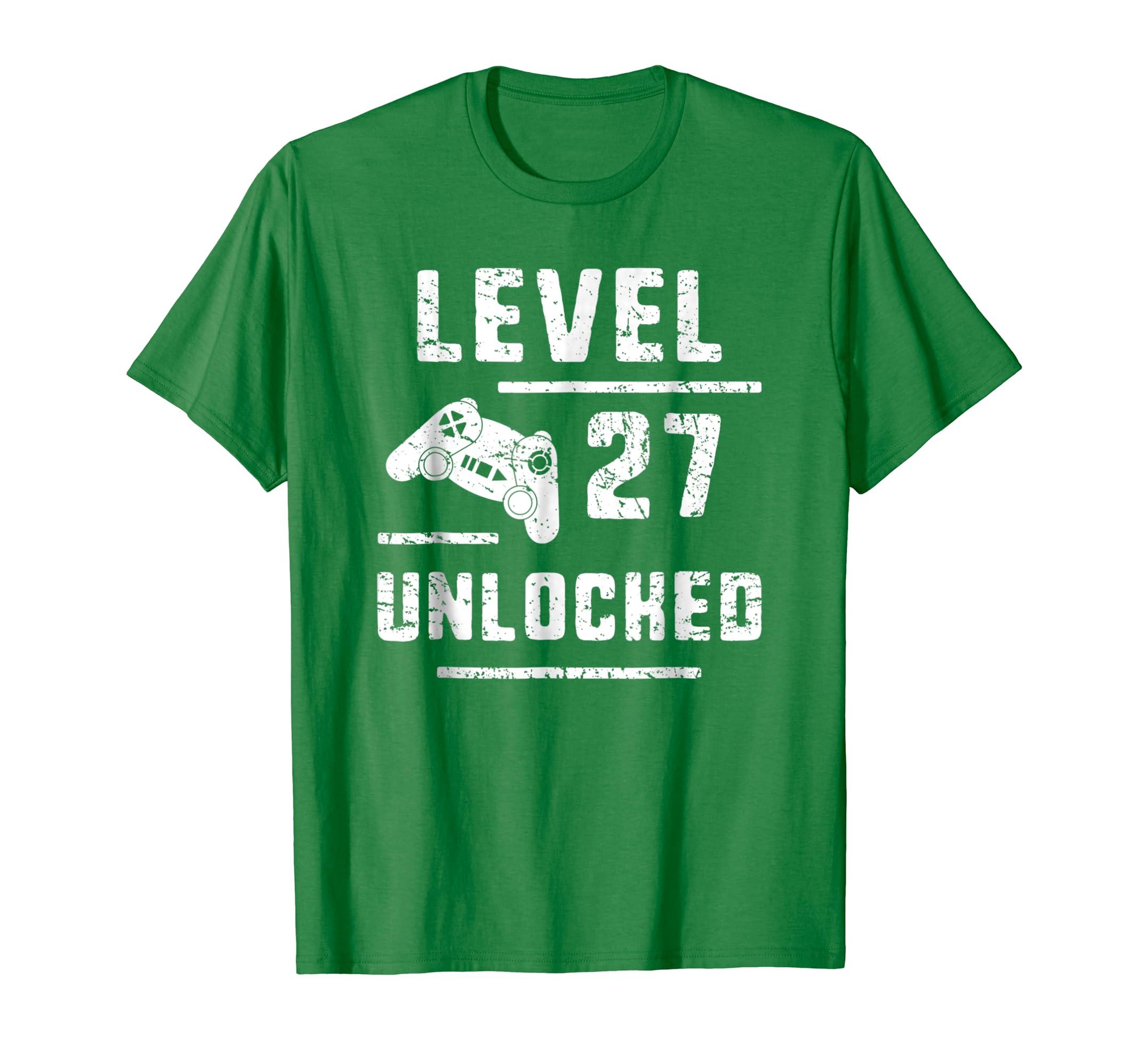 Amazon Gamer Husband 27th Birthday Gift 27 Years Old Gaming T Shirt Clothing