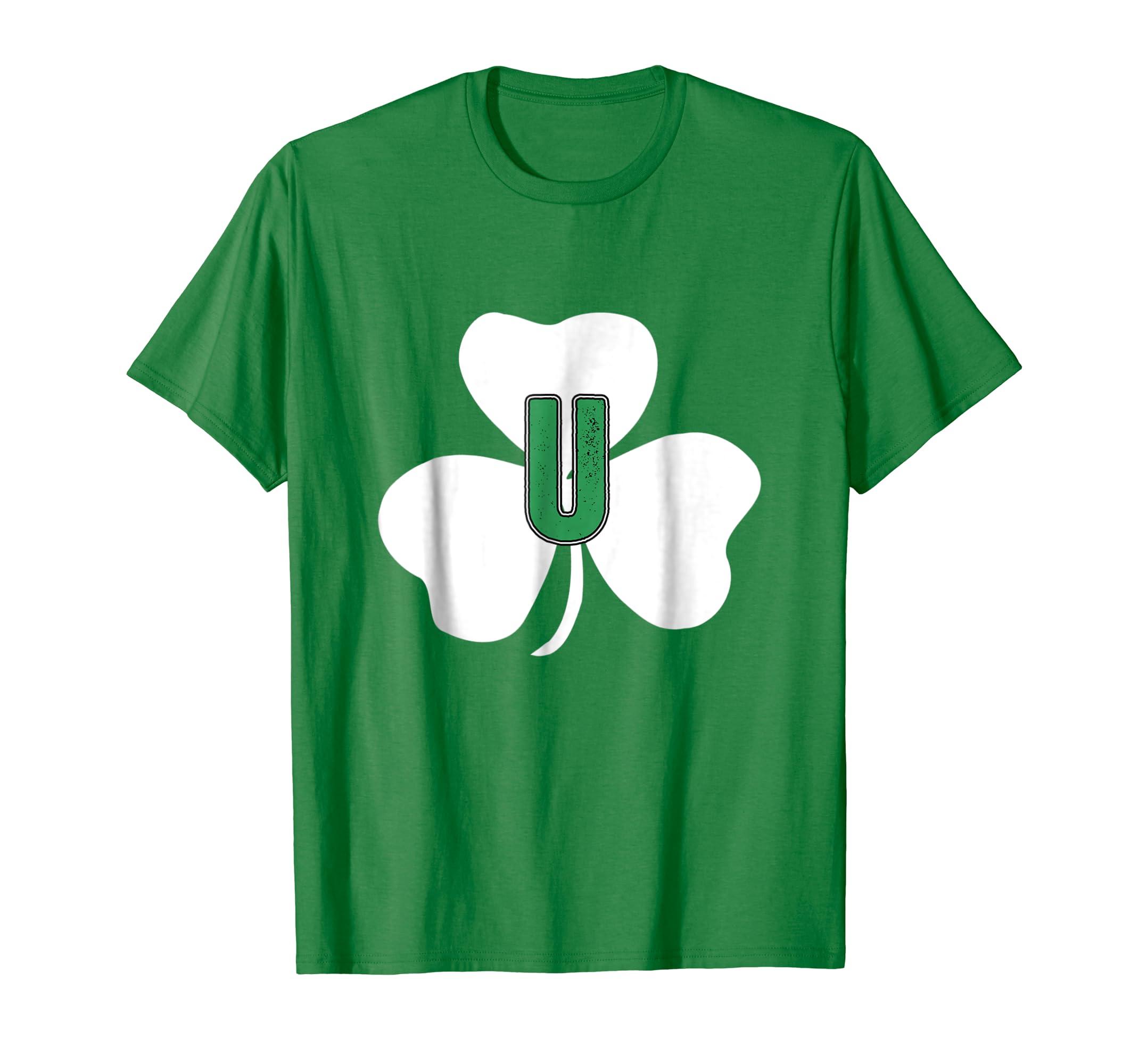 80f0189aa Amazon.com: St Patricks Day Shamrock Vintage Shirt for Family Monogram U:  Clothing