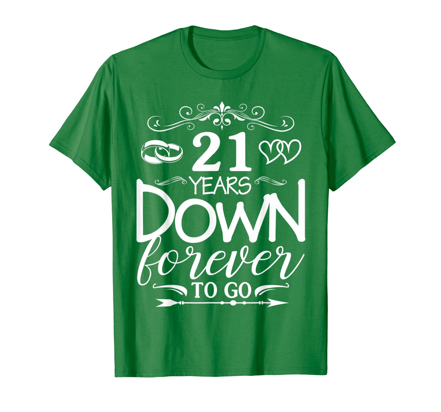 21st Wedding Anniversary.21 Years Down Forever To Go 21st Wedding Anniversary Shirt