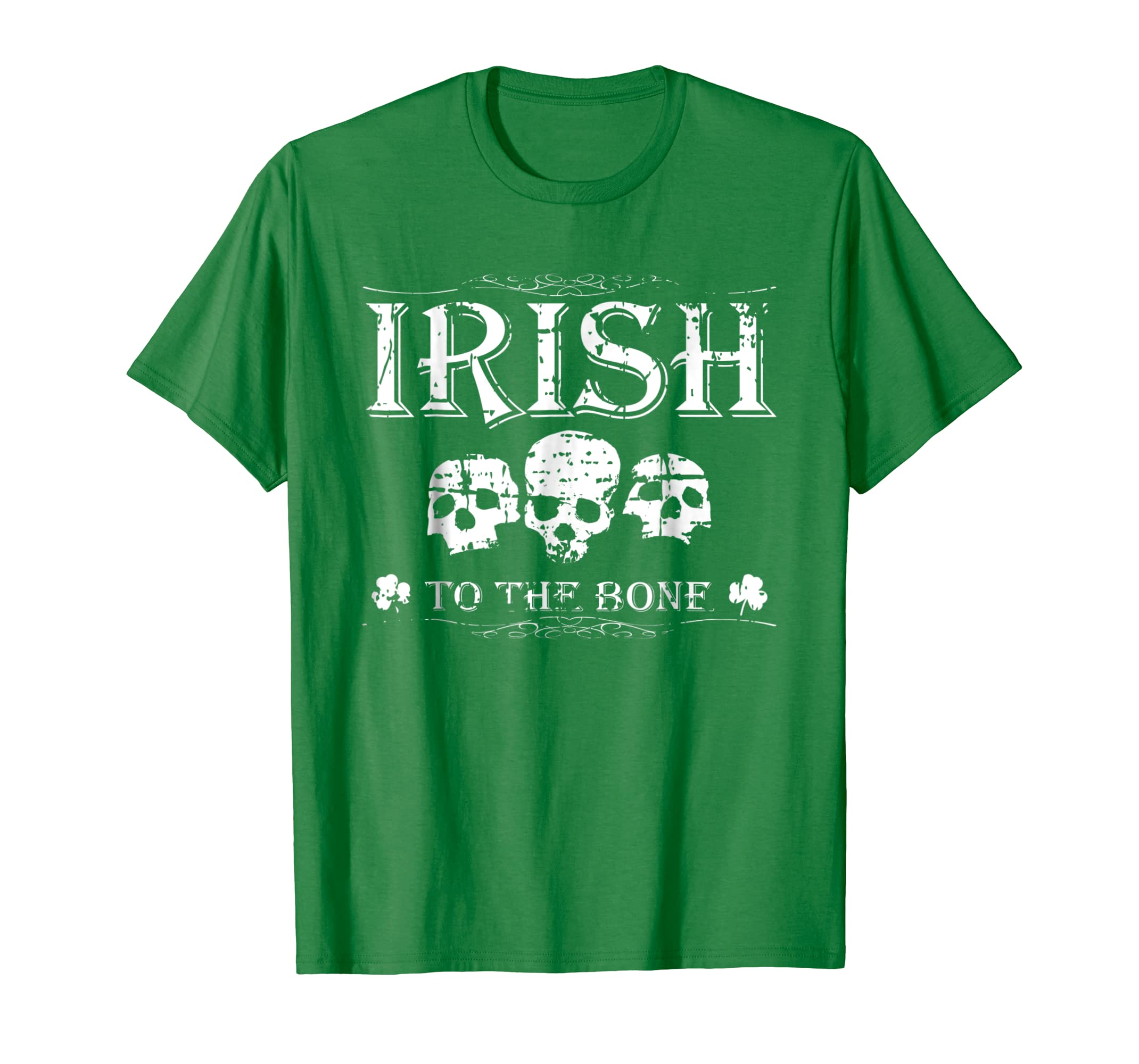 3986b35d65f9 Amazon.com: Distressed Cool Irish Skull St Patricks St Patty's Day Shirt:  Clothing