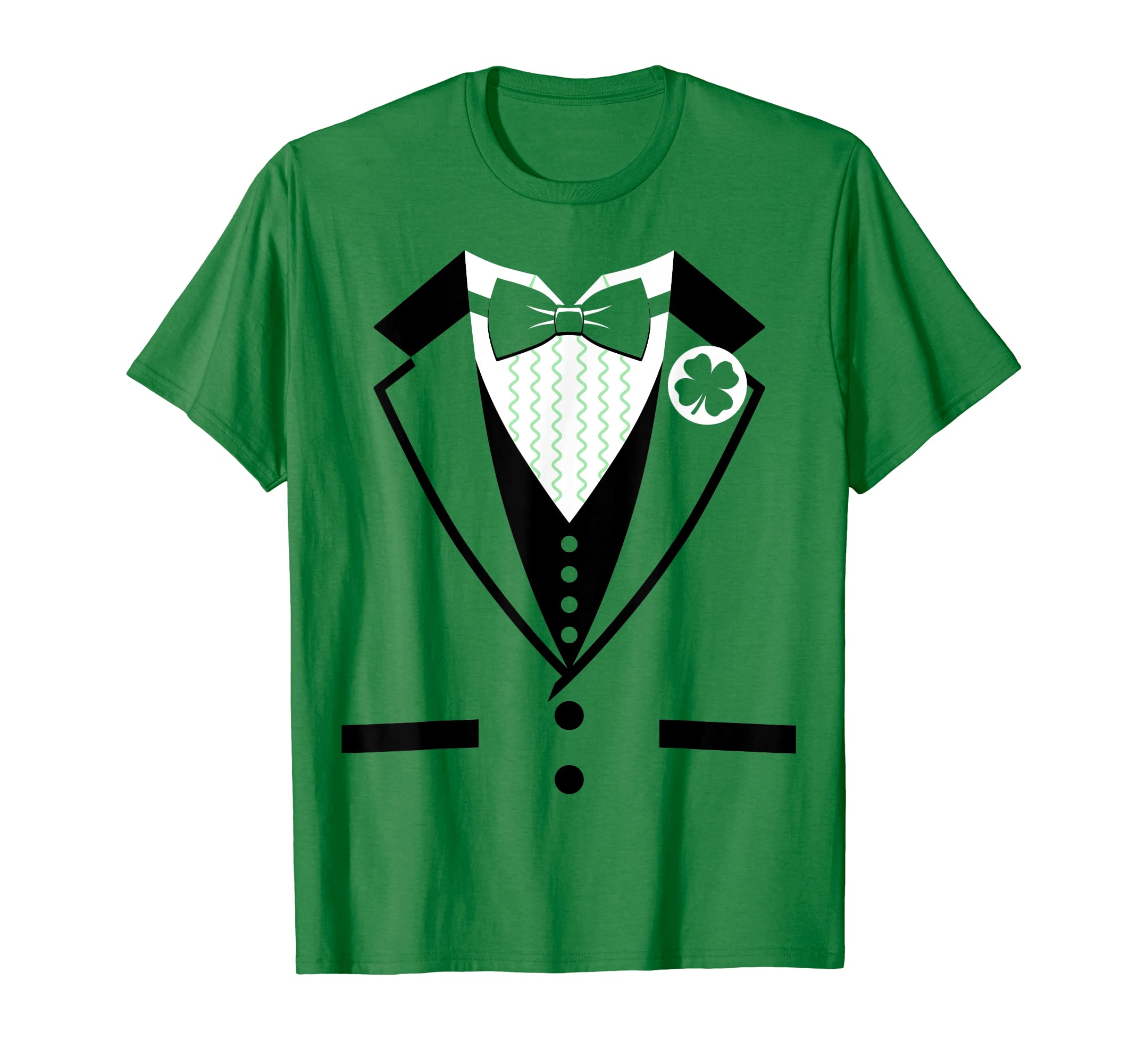 27cec476 Amazon.com: Leprechaun Costume Tuxedo St. Patrick's Day T-shirt: Clothing
