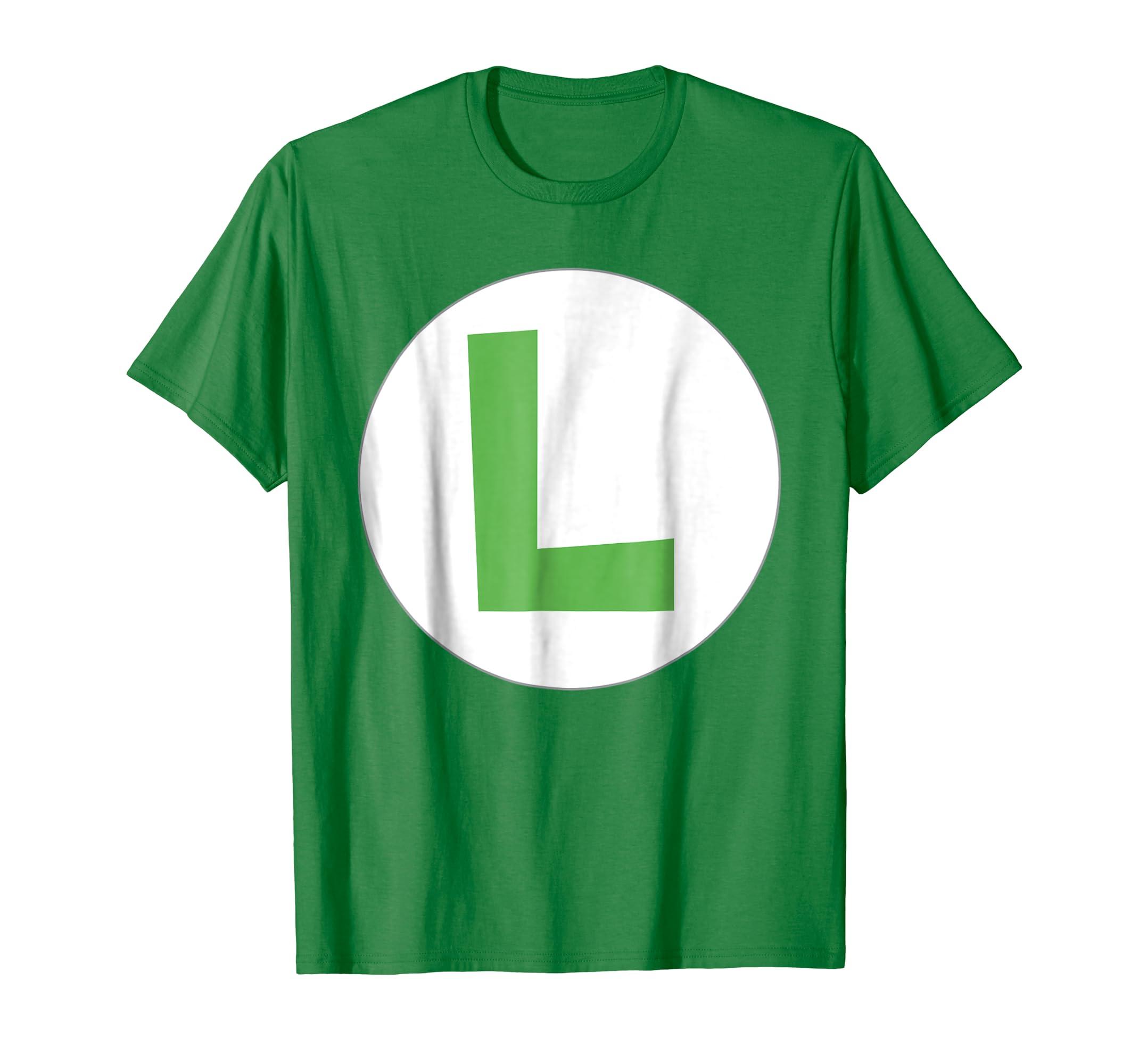 5f01e56ab Amazon.com: Nintendo Super Mario Luigi Icon Costume Graphic T-Shirt:  Clothing