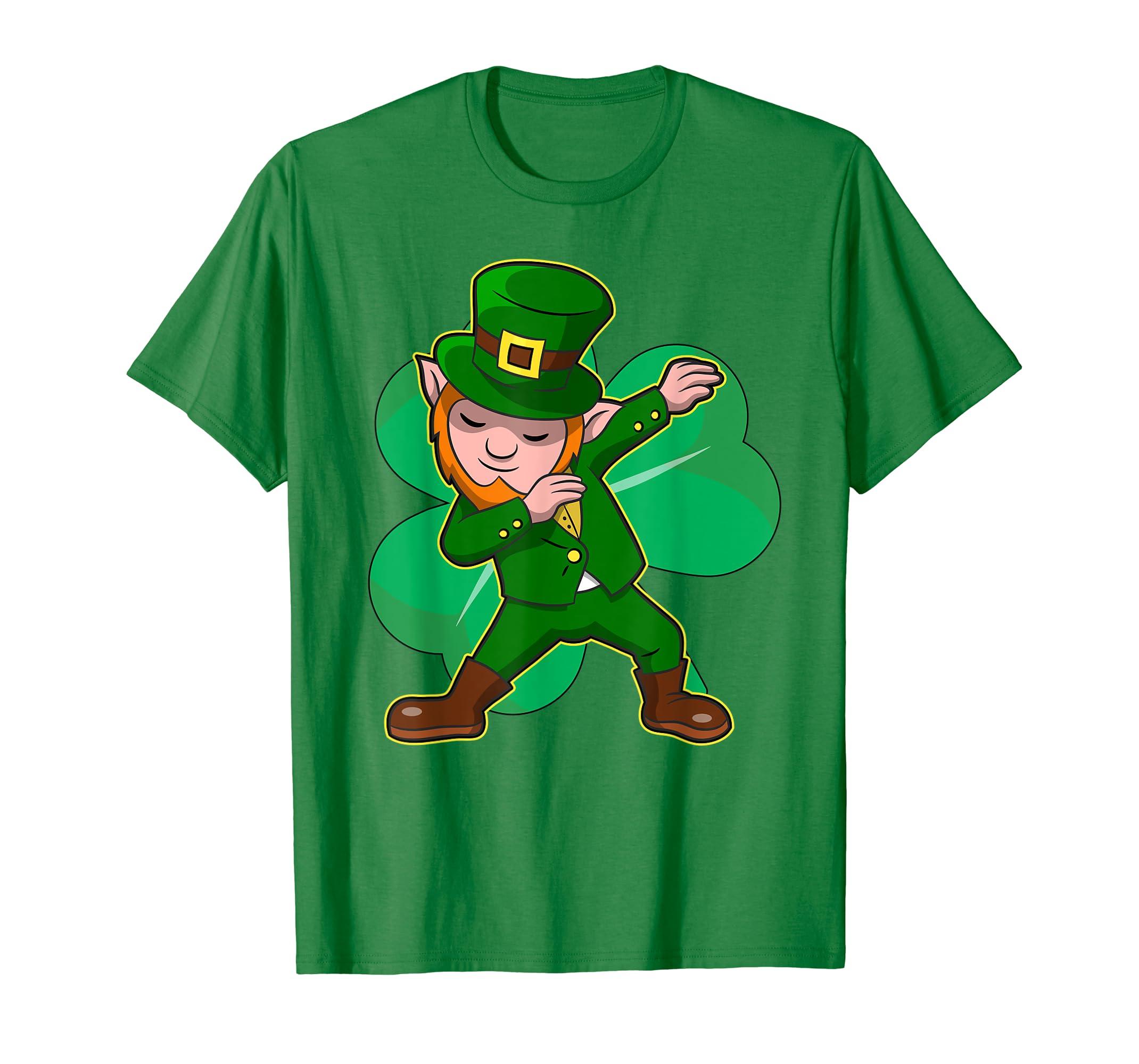 297dc5074 Amazon.com: Dabbing Leprechaun Shirt Funny Dab St Patrick Day Gift Idea:  Clothing