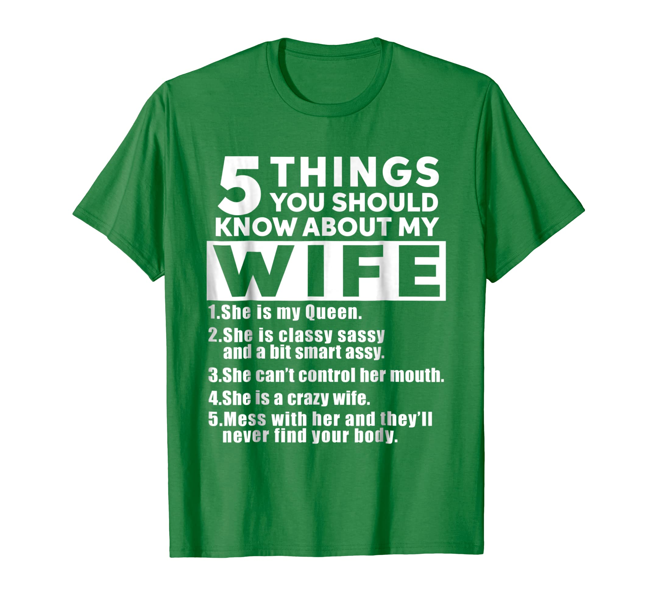 Mens 5 Things You Should Know About My Wife T Shirt-Teesml