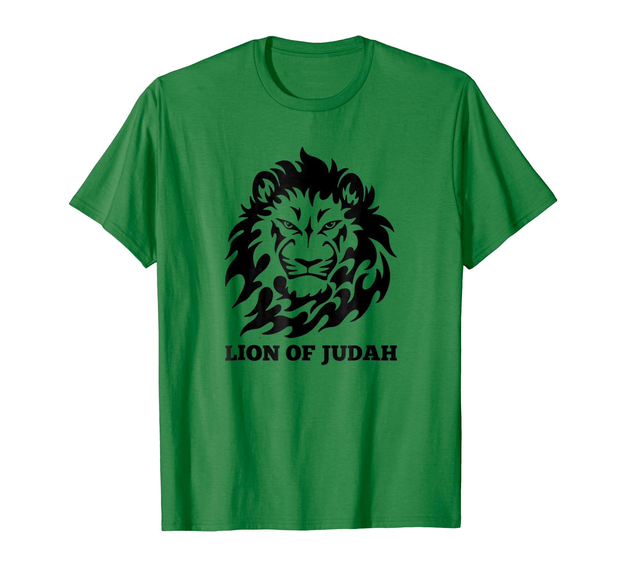 91a26c94 Amazon.com: Jesus The Lion of Judah Religious Gospel Slogan Jewish Tee:  Clothing