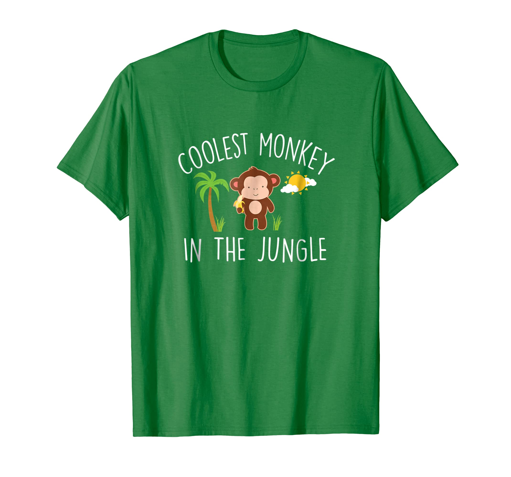 82682aa0 Amazon.com: Coolest Monkey in the Jungle T-Shirt Funny Kid Meme Tee:  Clothing