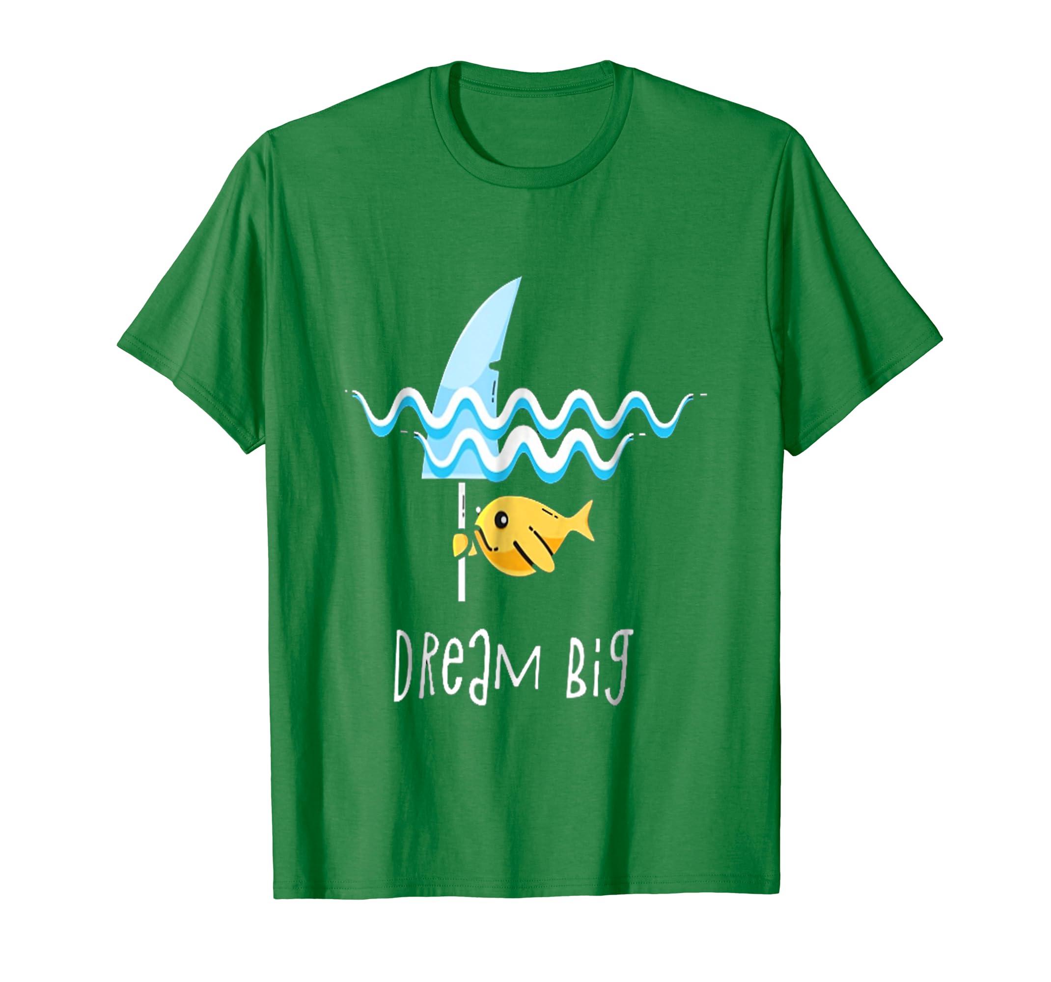 great white Shark Dream big Tshirt-Newstyleth