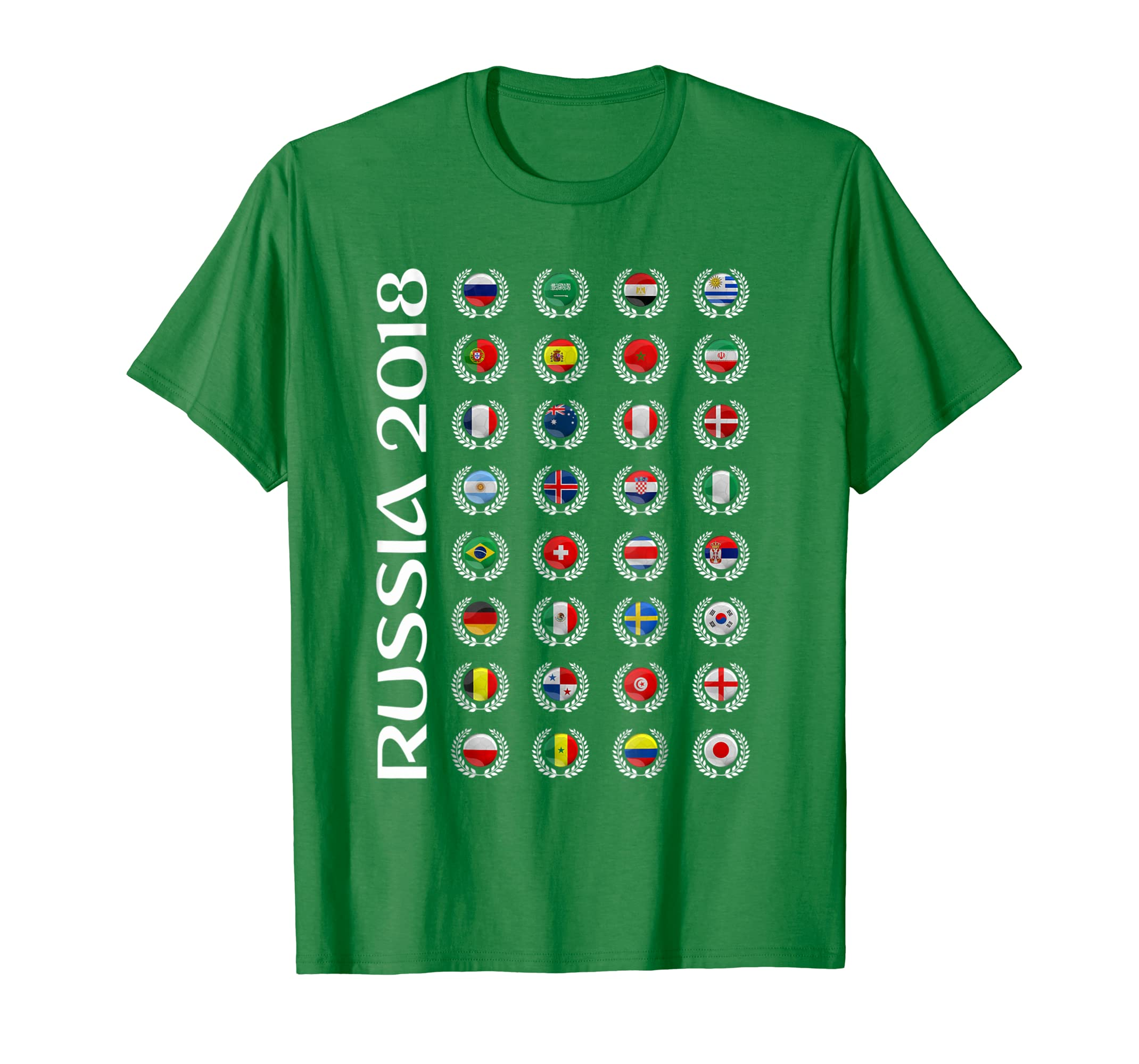 Russia Soccer T-shirt 2018 World Football Cup All Teams 32 | MultiMv ...