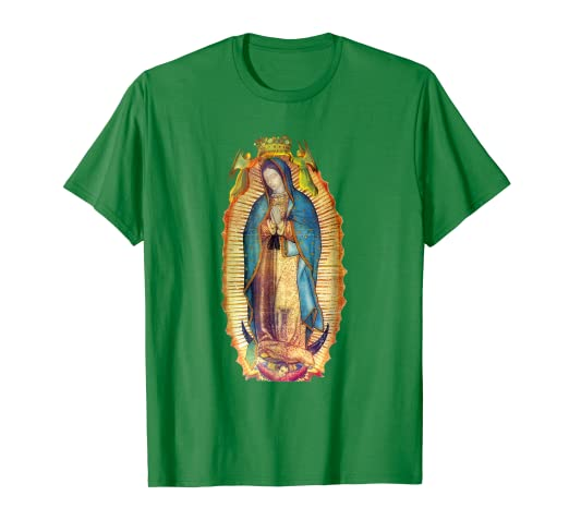 b3232661e Image Unavailable. Image not available for. Color: Our Lady of Guadalupe  Virgin Mary T-Shirt Mexico Mexican