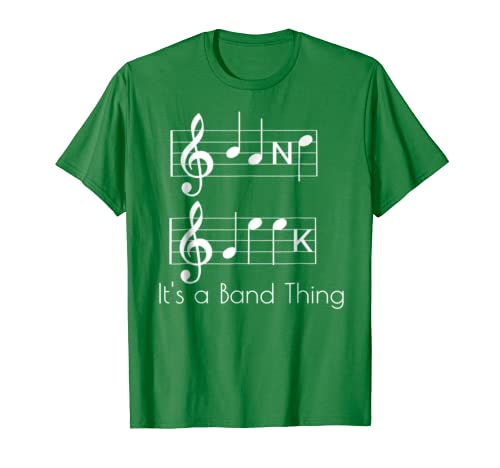 8cd3b4b7 Amazon.com: Band Geek Music Notes Spelling Funny T-Shirt for Musicians:  Clothing