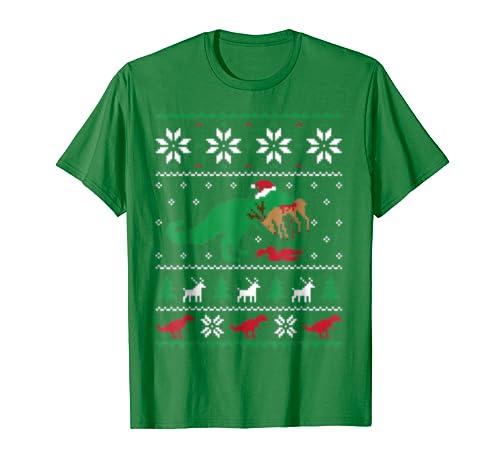 Awkward Styles Dinosaur Christmas Sweater Ugly Sweatshirt For Rexmas Love Gifts Men Xmas