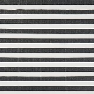 Vinylla rayas negro algodón recubierto de vinilo fácil de