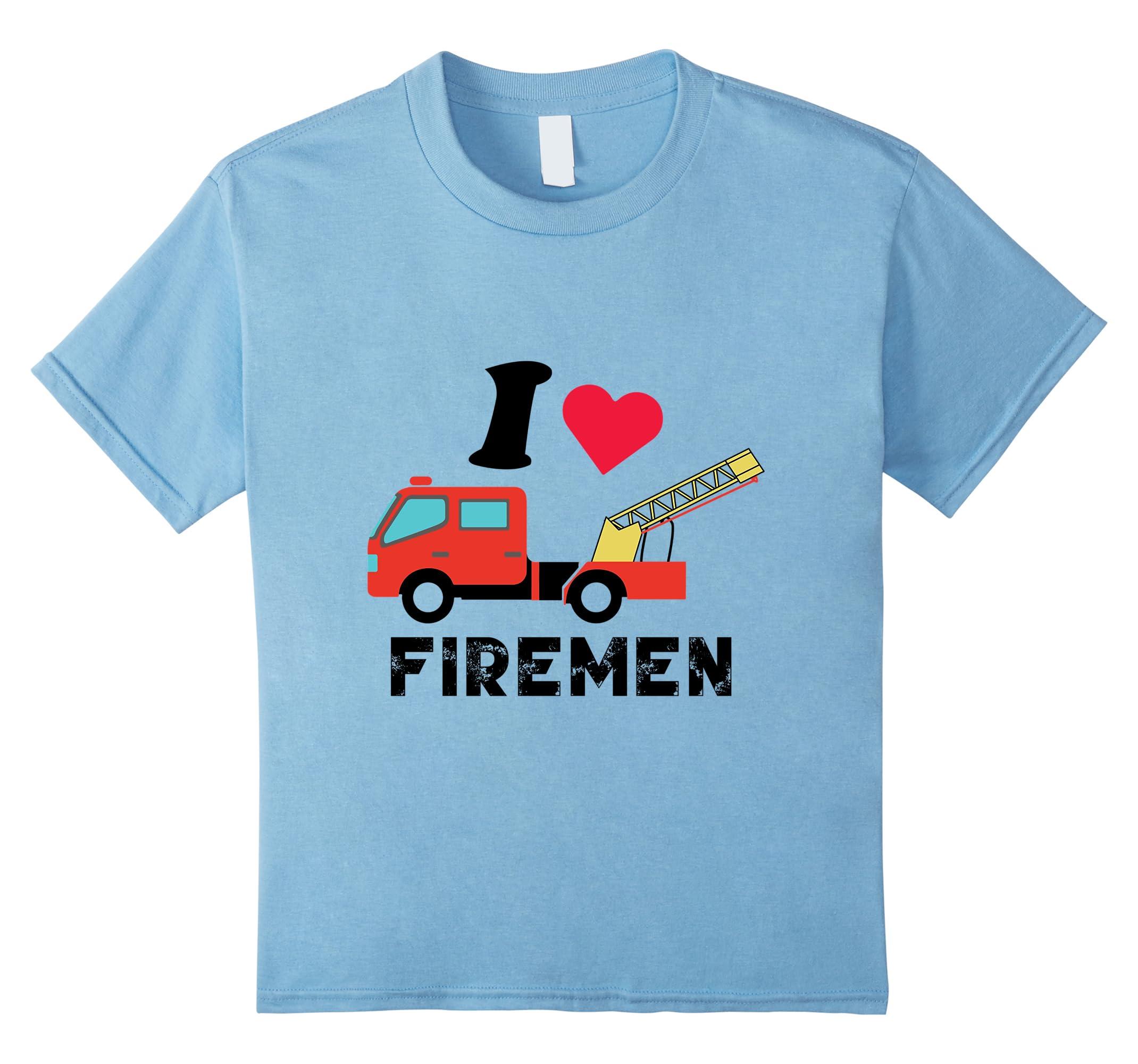Love Firemen T Shirt Firefighter Shirt-Tovacu