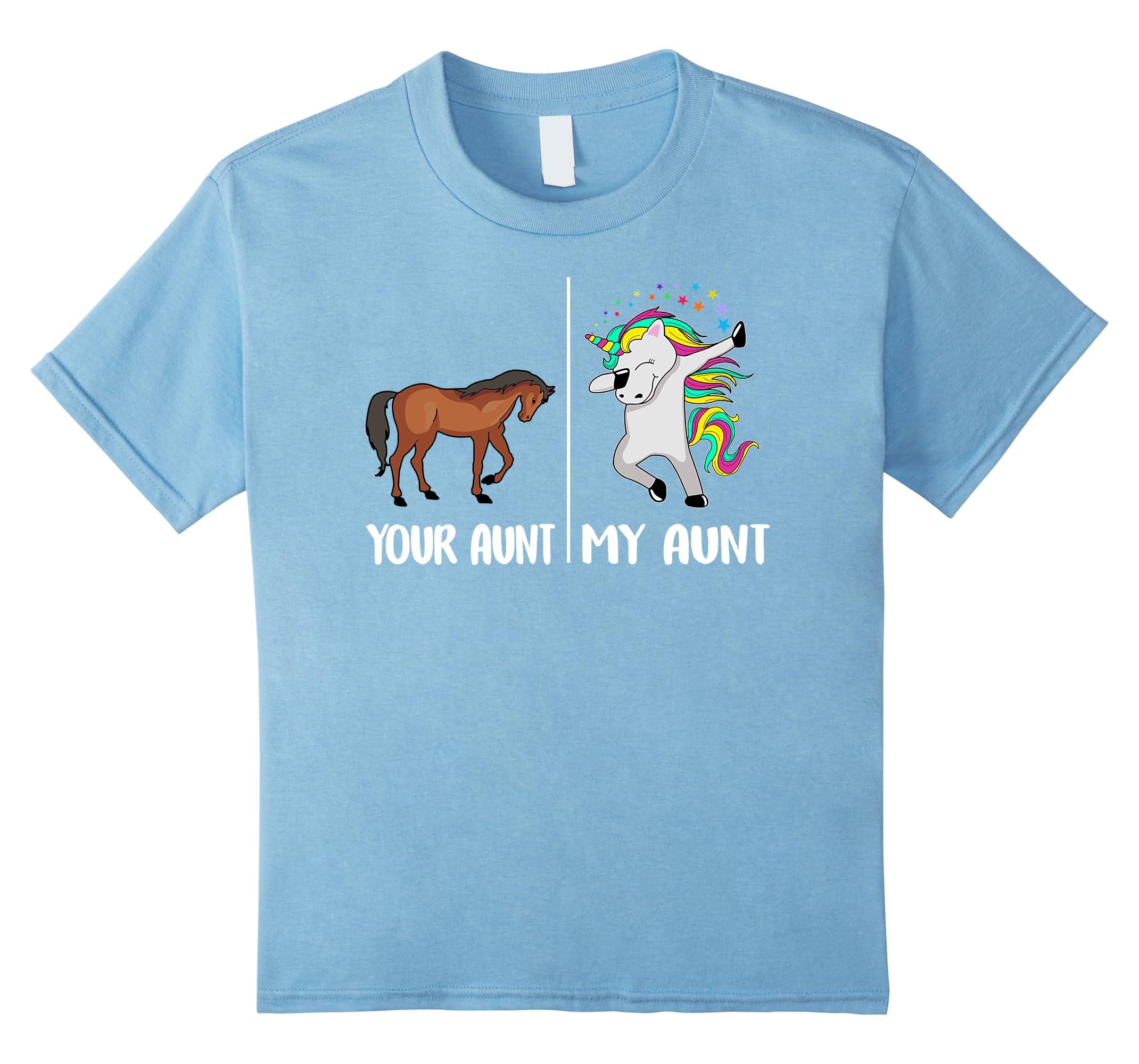 Funny Unicorn T Shirt Gifts Auntie-Samdetee