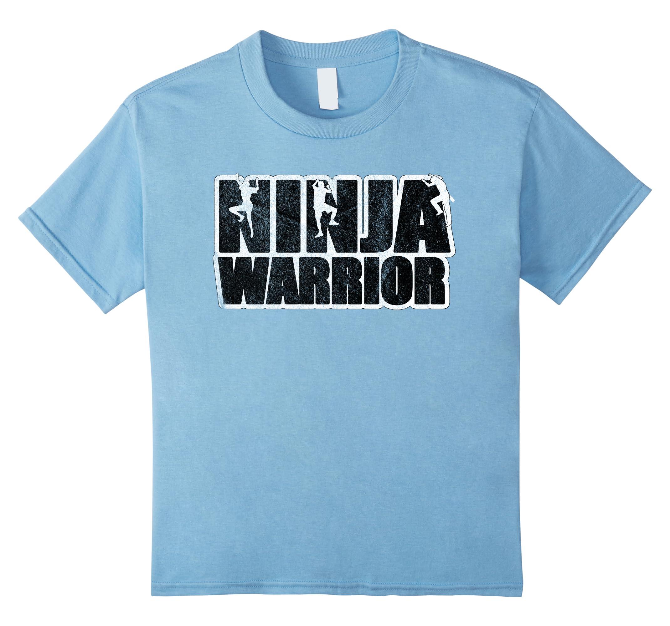 Ninja Warrior T Shirt Climbing Warriors-Samdetee