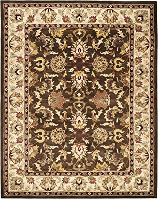 Safavieh Heritage Collection HG818A Handcrafted Traditional Oriental Brown and Beige Wool Area Rug (9' x 12')
