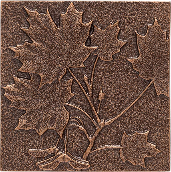 Whitehall Products Maple Leaf Wall Decor Antique Copper