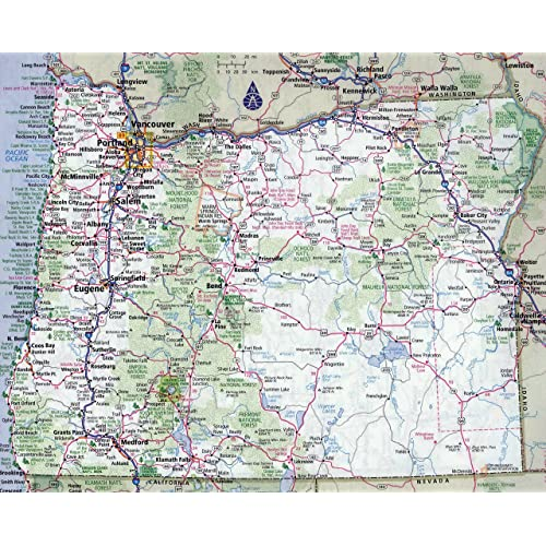 Map Print of Oregon State: Amazon.com on