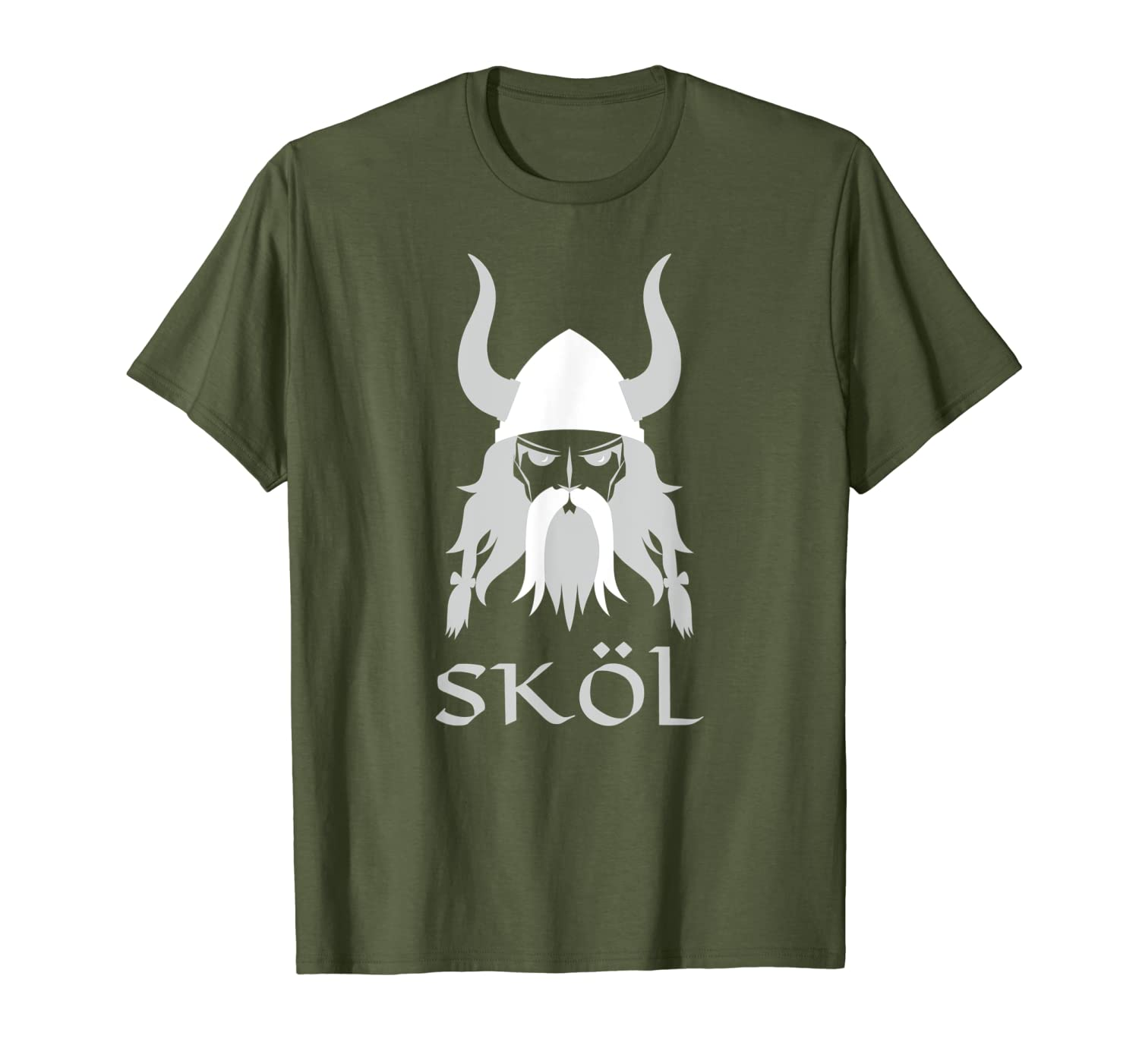 Skol Nordic Scandinavian Warrior Viking Helmet T-Shirt-TH