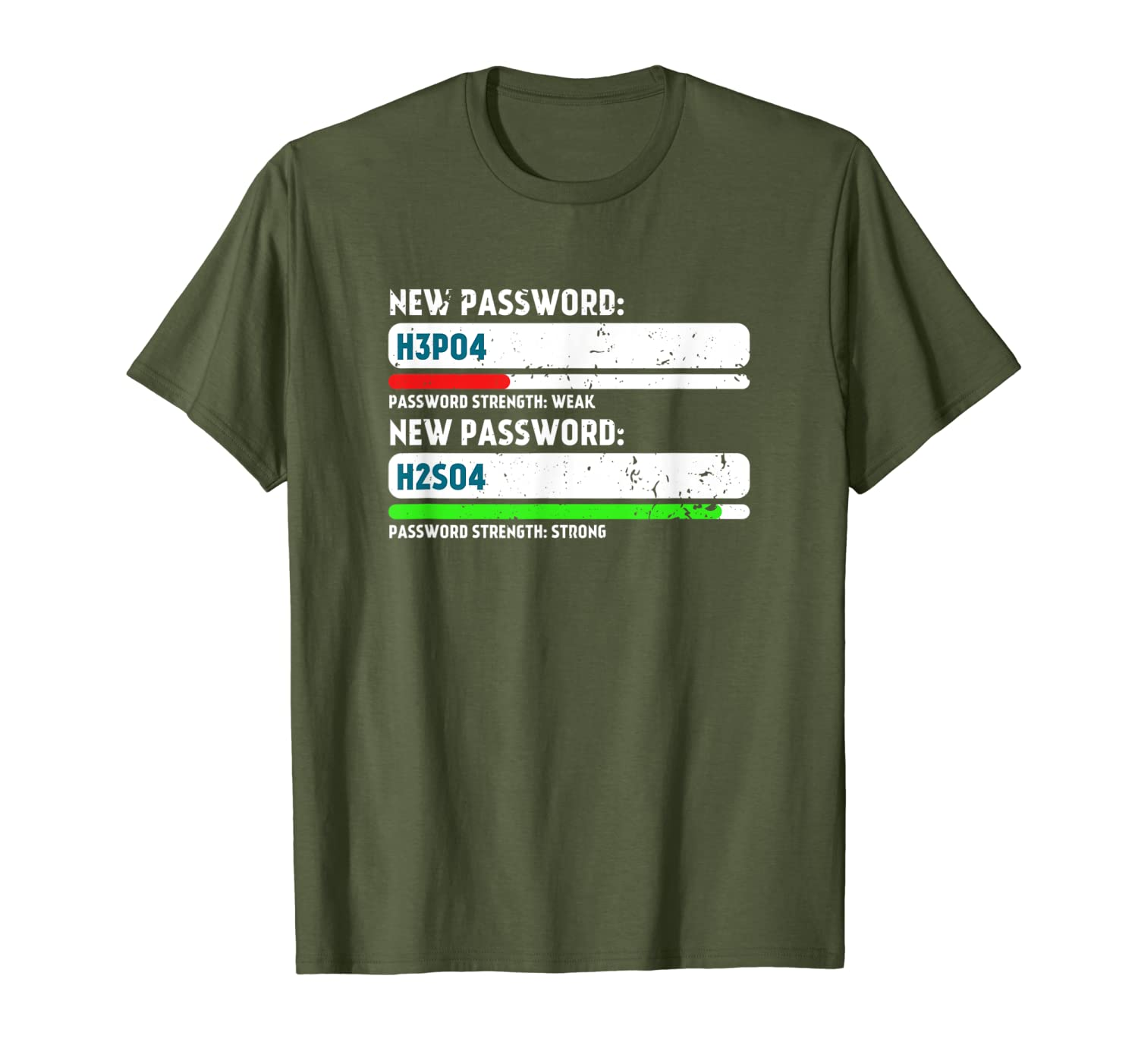 New Password H3PO4 Funny Science Pun Gift T-Shirt
