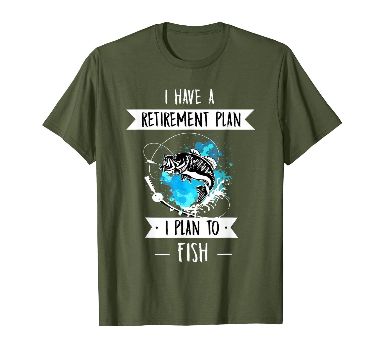 Funny Fishing Gear for Guys Mens Retirement T-Shirt Unisex Tshirt