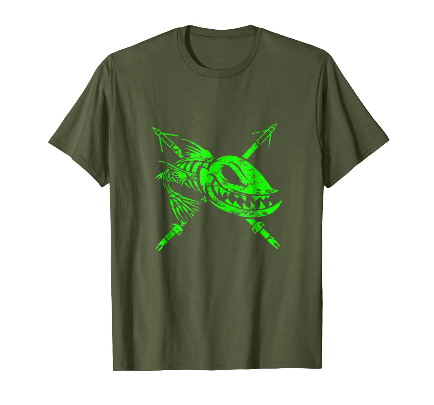 Bow Fishing, Bow Fisherman Shirts and Gifts - Distressed Unisex Tshirt