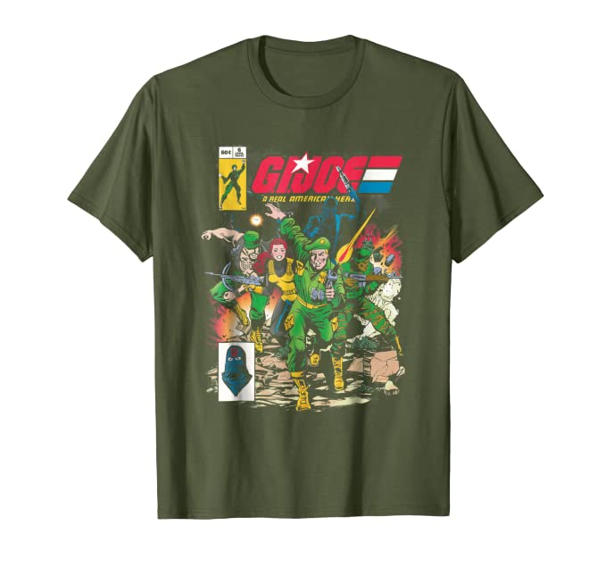 Amazon.com: G.I. Joe Retro Comic estilo playera: Clothing