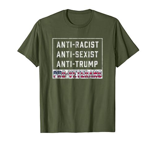 Anti Trump Pro USA Veterans Patriotic T-Shirt