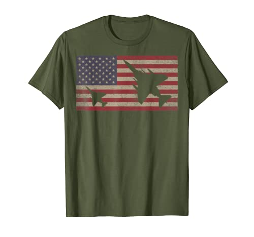 F-4 Phantom II Jet Fighter Plane USA Patriotic Flag Gift T-Shirt