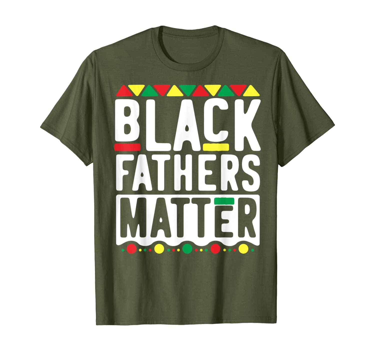 Black Fathers Matter T-Shirt for Men Dad History Month T-Shirt