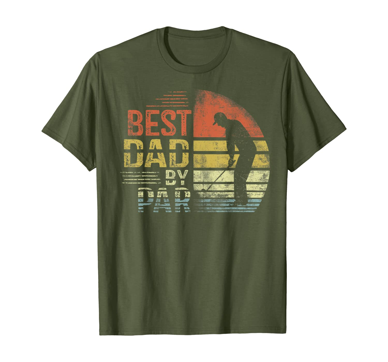 Mens Best Dad By Par Daddy Fathers Day Gifts Golf Lover Golfer T-shirt - Dad Shirts Up To 5xl