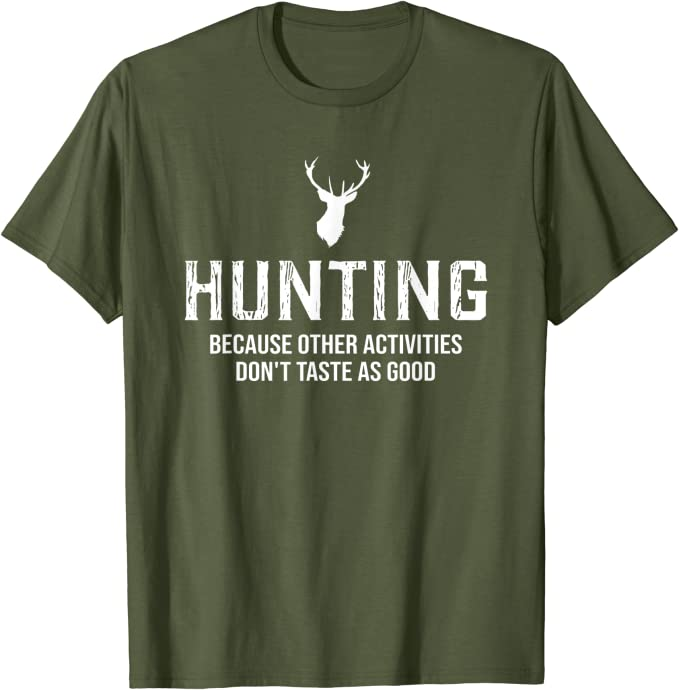 Womens I Eat Fast Food Funny Mens Hunter Deer Shooting Hunting ladies V-Neck