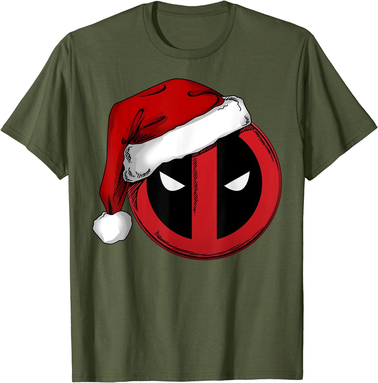 Deadpool tshirt funny movie comic book Christmas meme skate