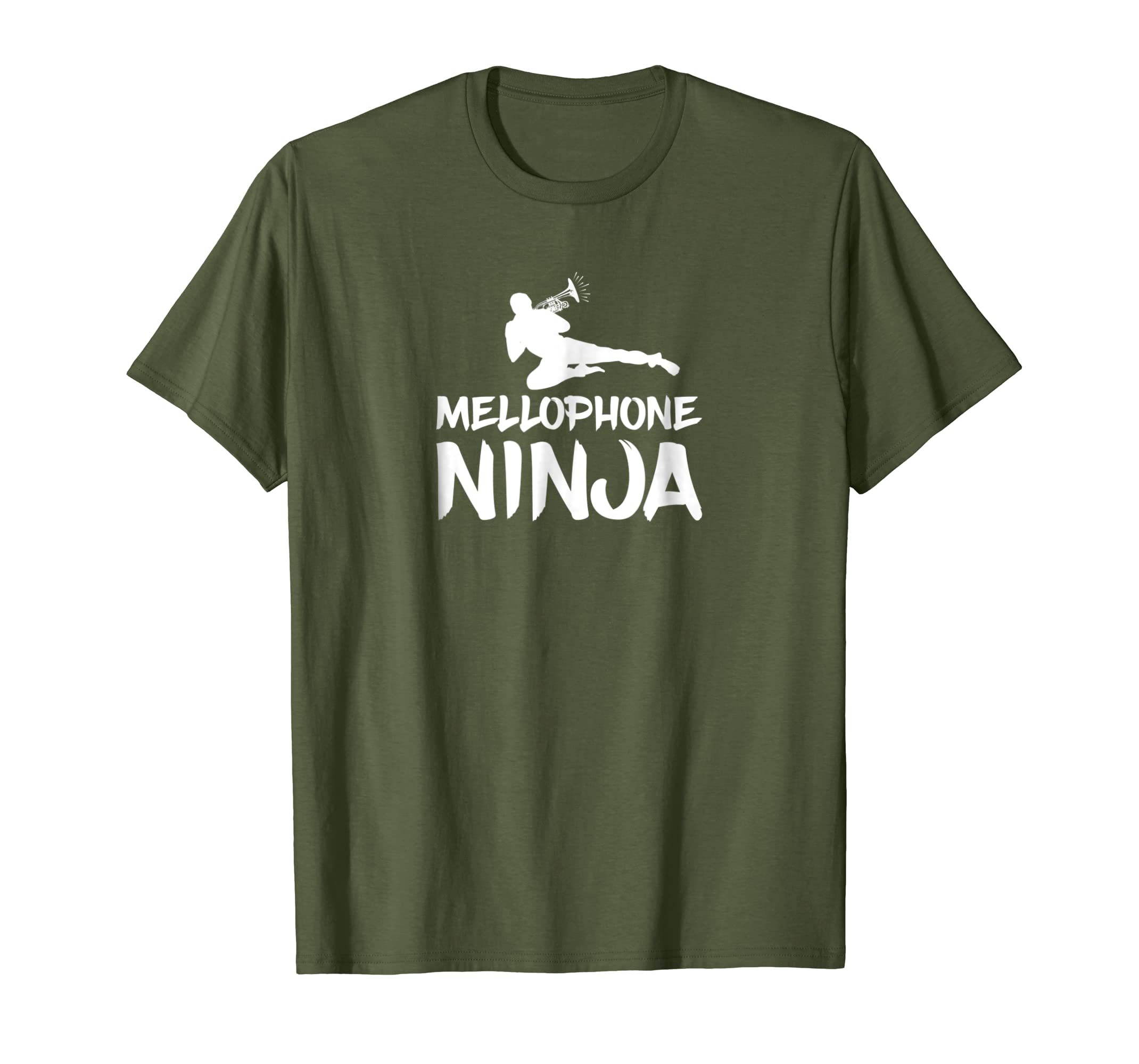 9f478bf4d5dc89 Amazon.com  Mellophone Ninja Marching Band Shirt Camp Funny Matching Tee   Clothing