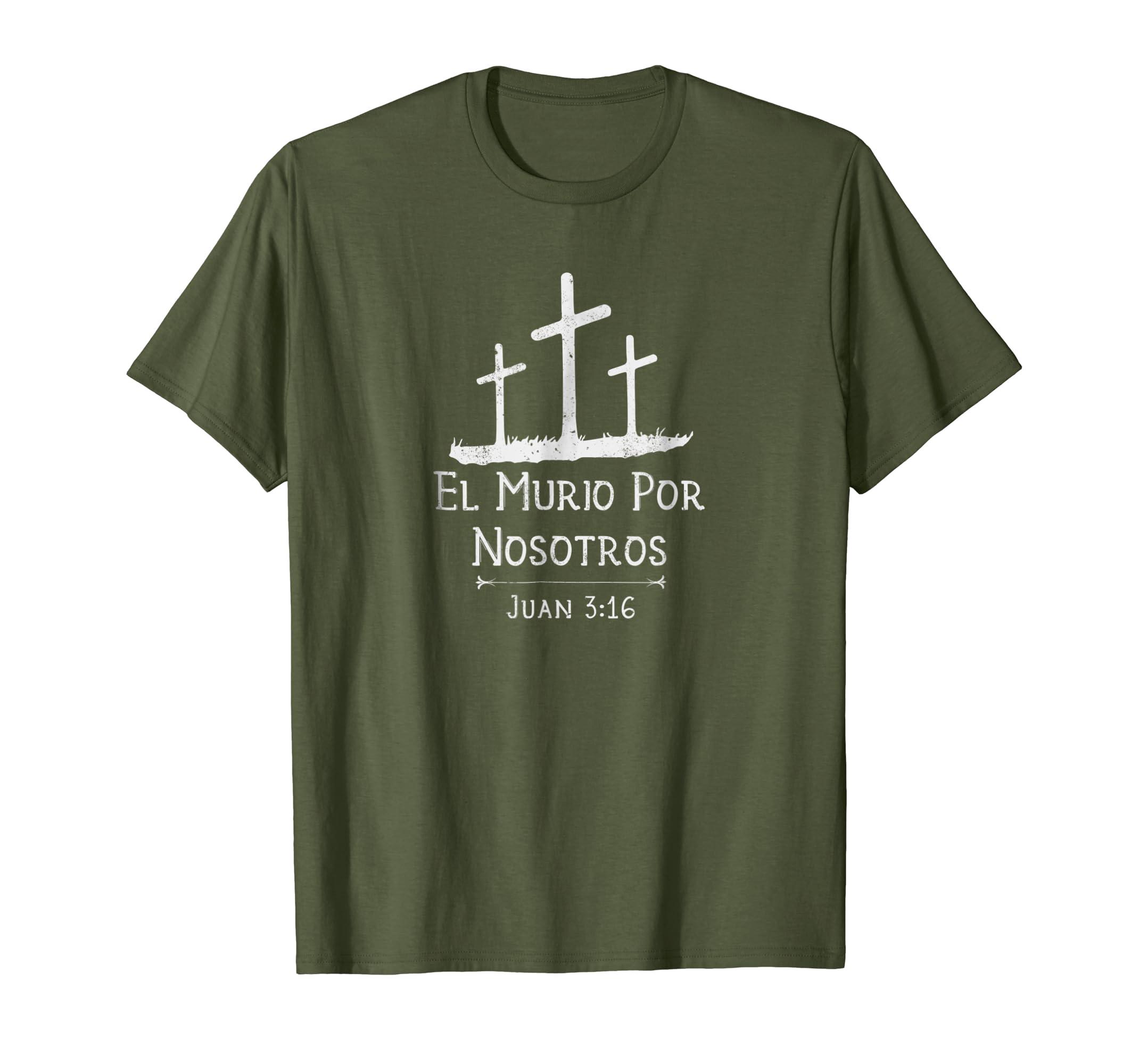 Amazon.com: Juan 3:16 Camisa | Spanish Christian Shirts for Cristianas: Clothing