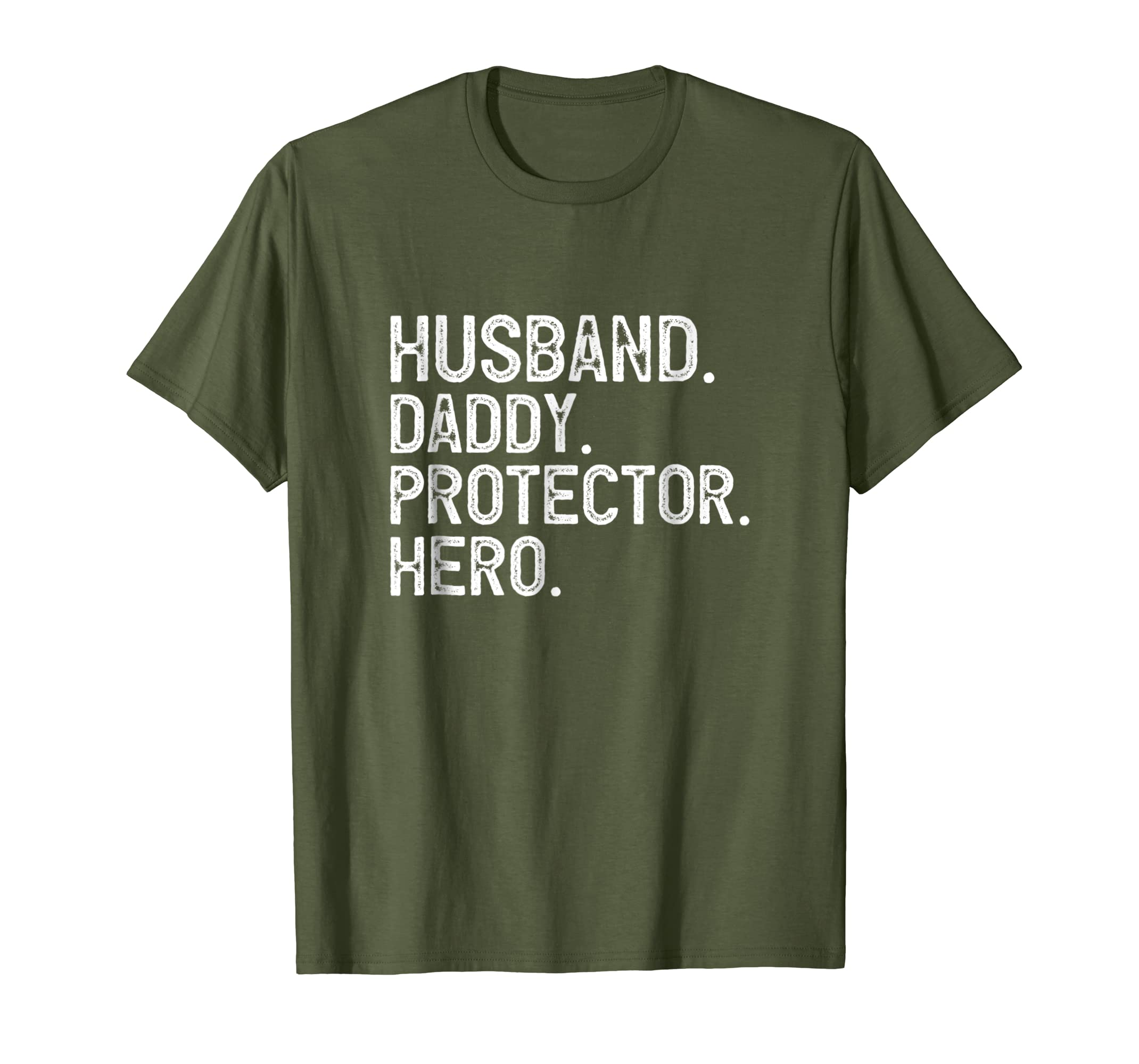 98436ba8 Amazon.com: Mens Husband Daddy Protector Hero T-Shirt Father's Day Gift:  Clothing