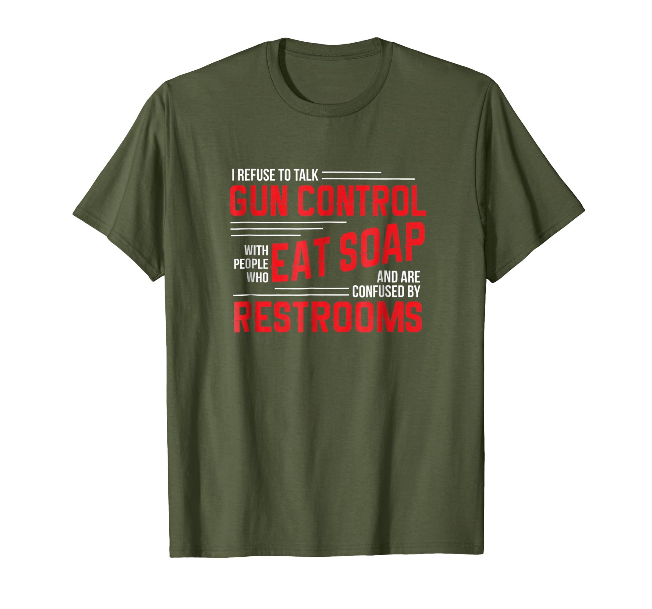 225eab9e Amazon.com: Gun Control T Shirt Gun Rights Pro Gun Debate 2nd Amendment:  Clothing