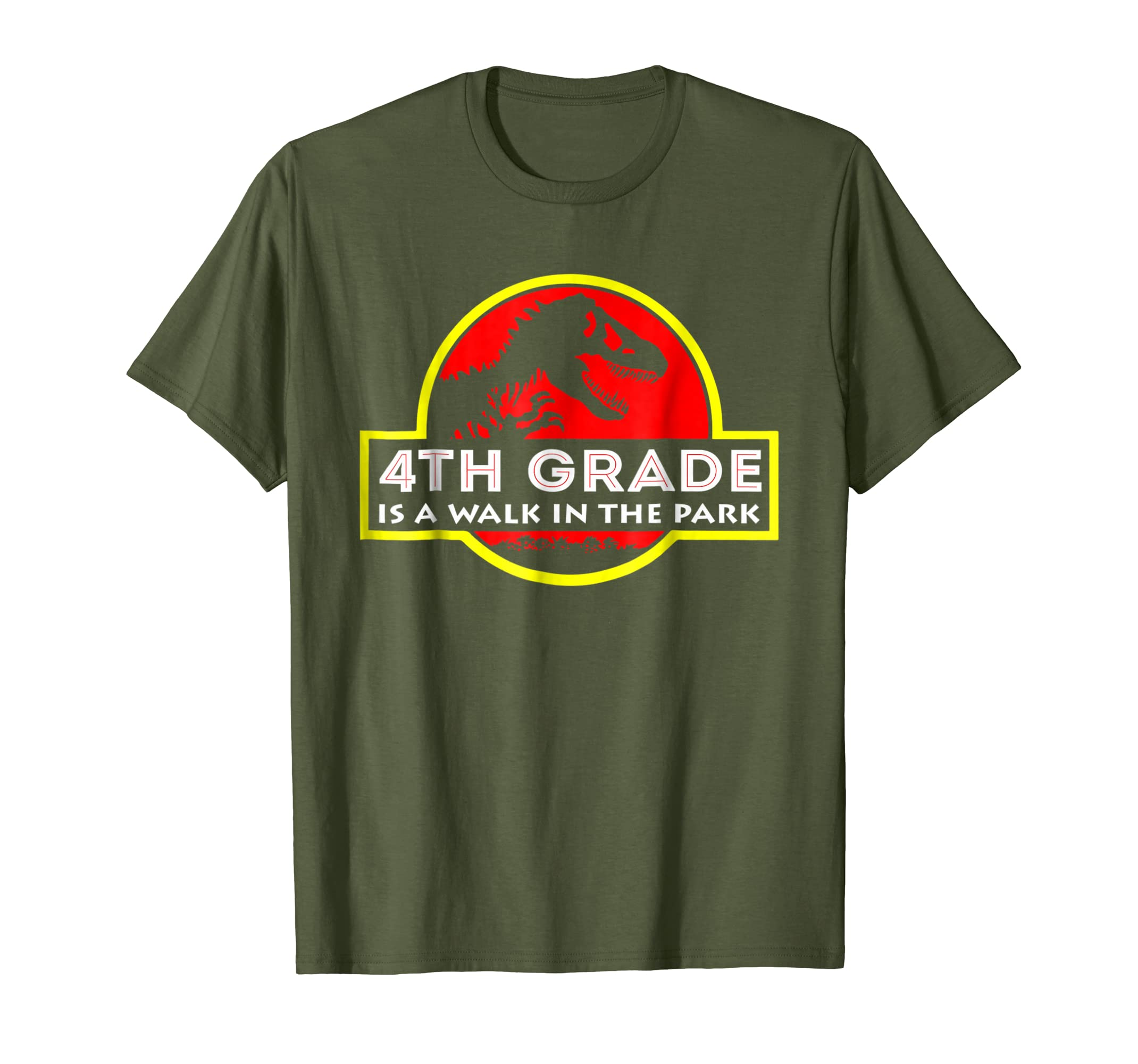 4th Grade is a walk in the park funny T shirt-ln