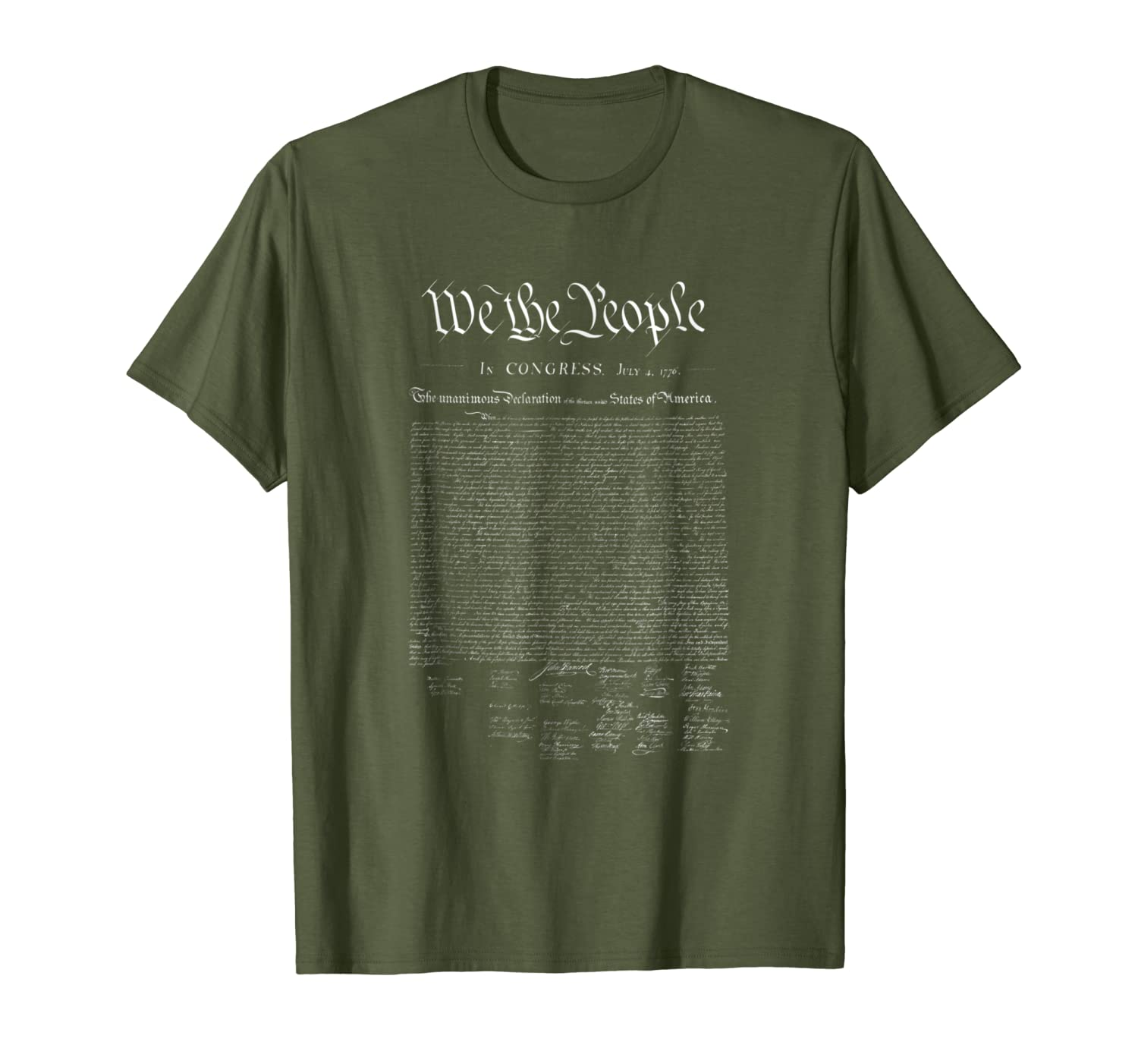 WE THE PEOPLE  U.S. Declaration of Independence-Loveshirt