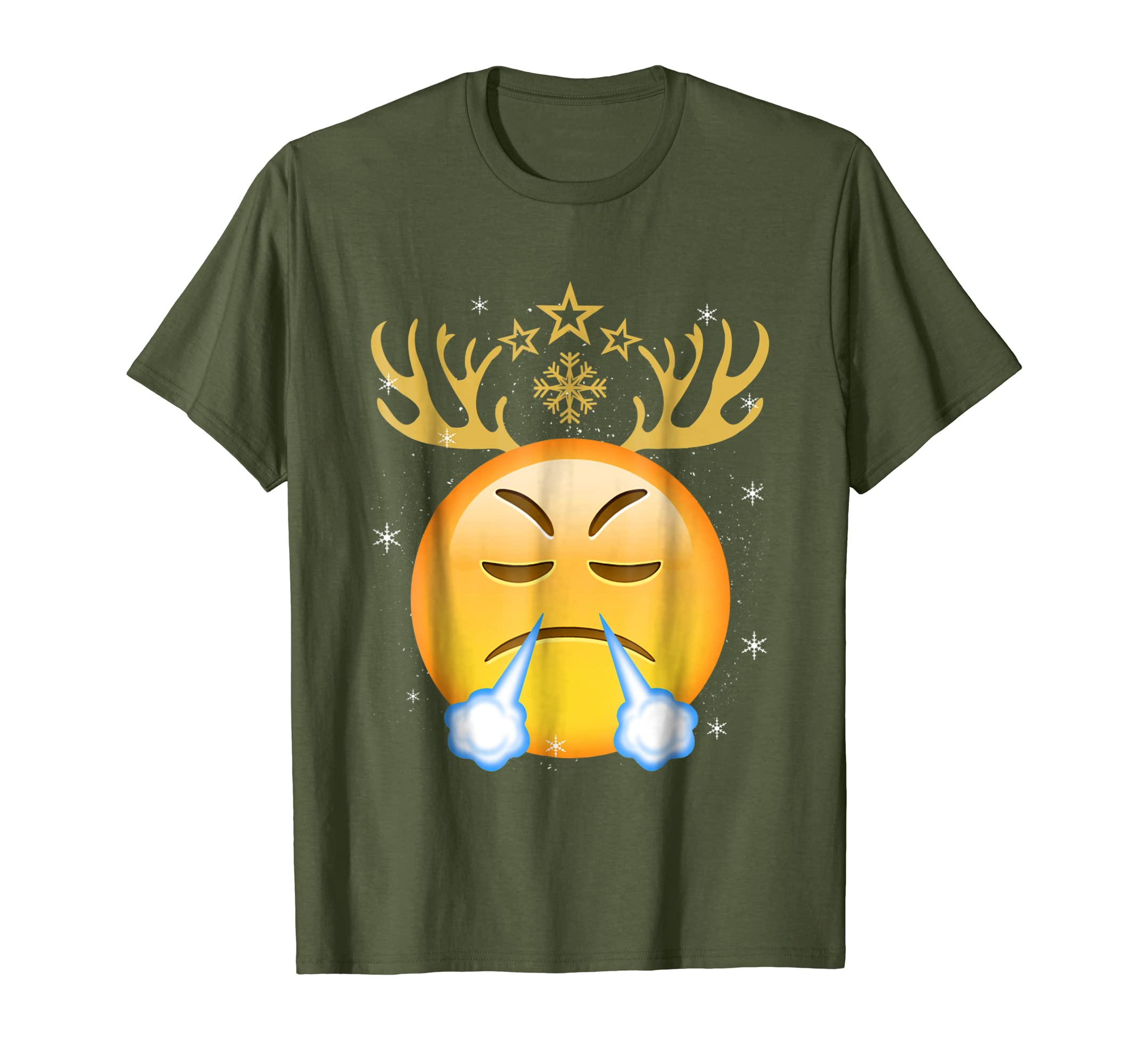78a05ddfc Amazon.com: Reindeer Face With Look Of Triumph Christmas Shirt Xmas Gift:  Clothing