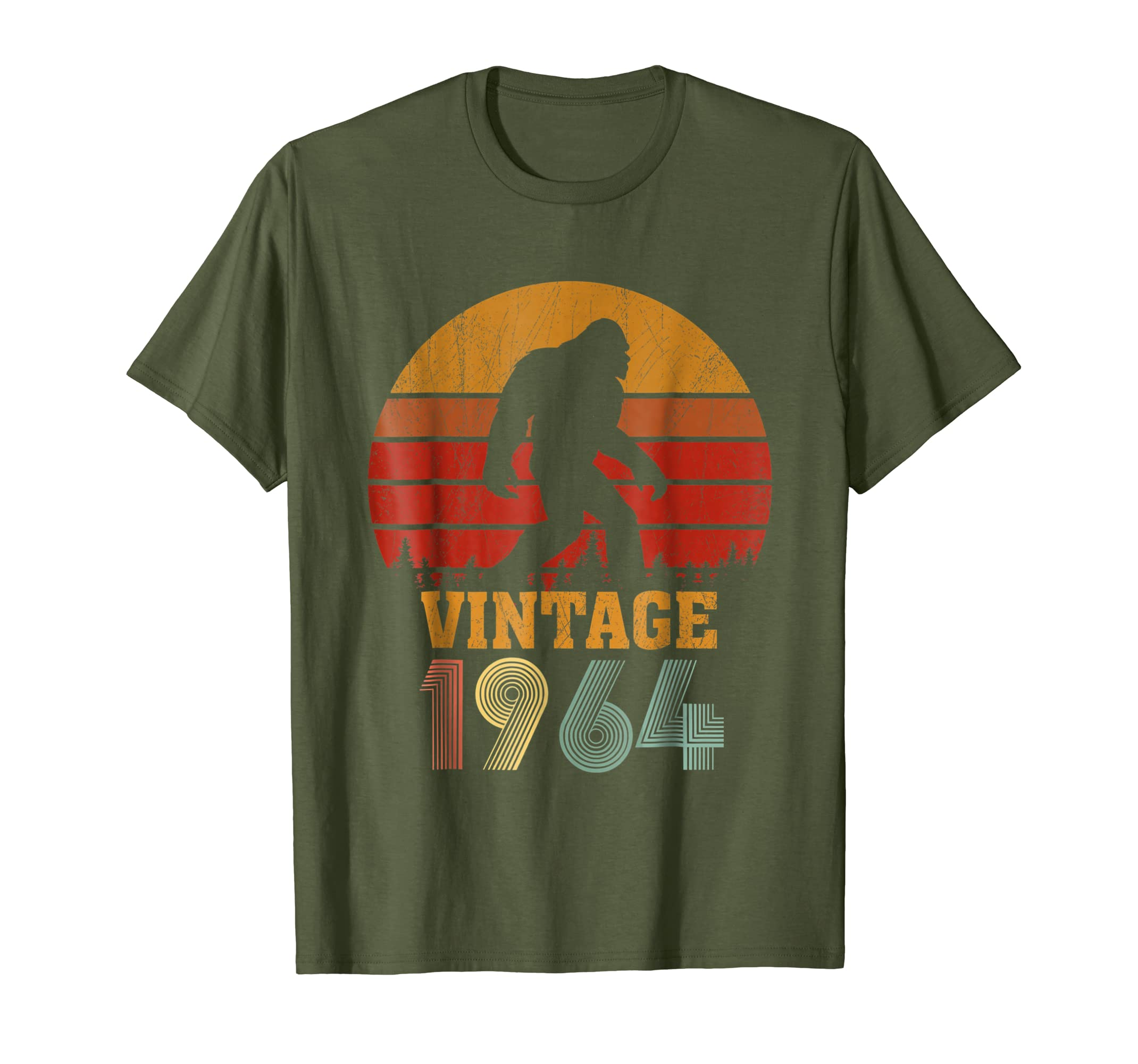 54 Years Old 1964 Vintage 54th Birthday T-shirt Bigfoot-SFL