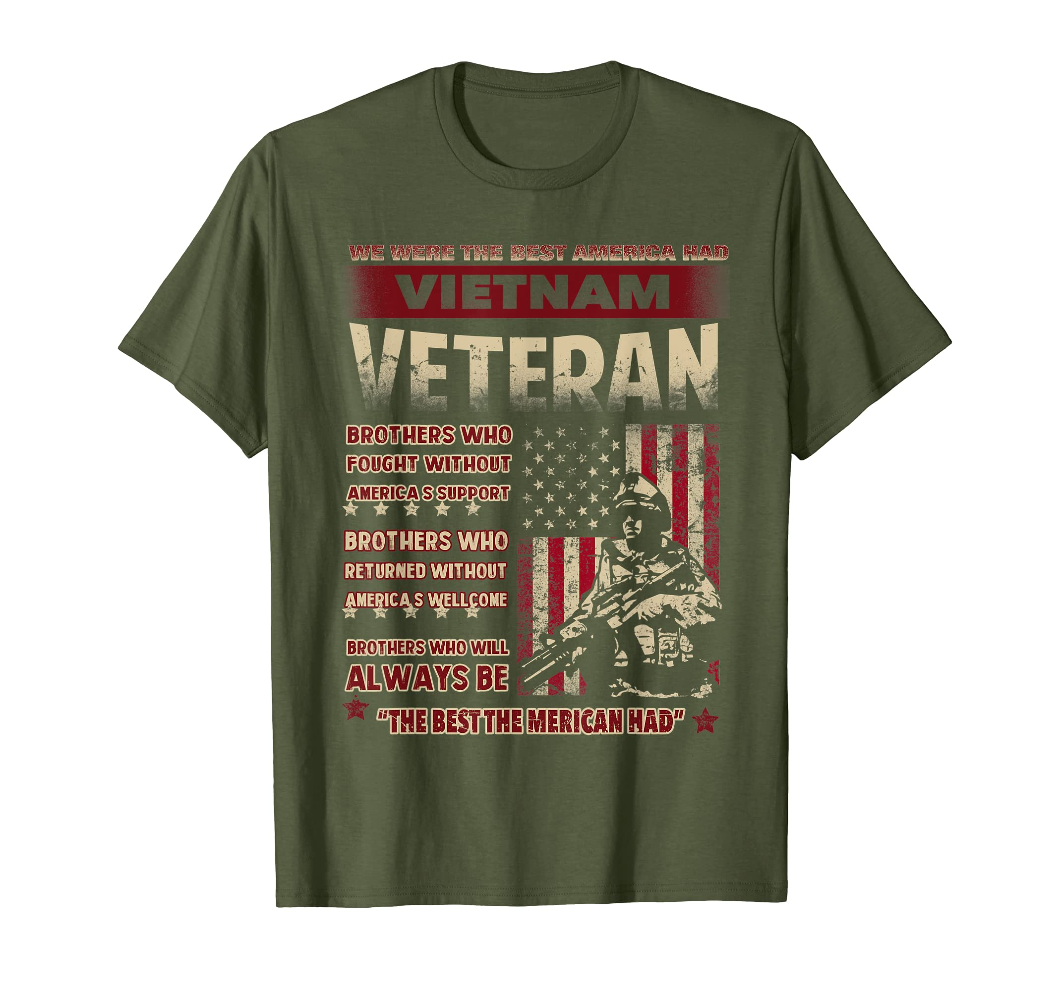 199ff7b3 Amazon.com: Mens Vietnam Veteran Shirt - Best Gift For Veteran Day 2017:  Clothing