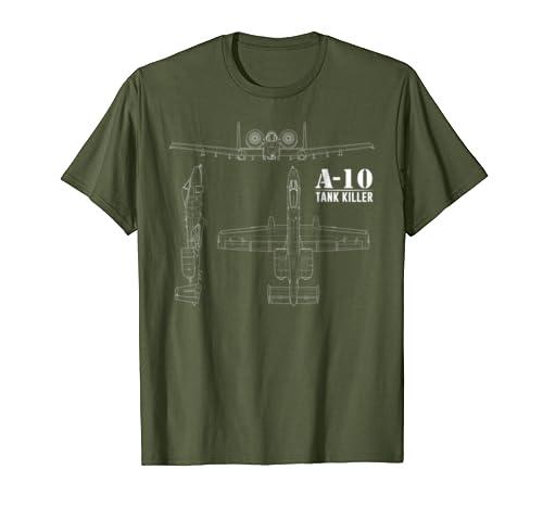A-10 Warthog Tank Killer Shirt Air Force Thunderbolt Tee